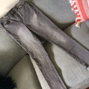 Aeropostale Grey High Waisted Jeggings
